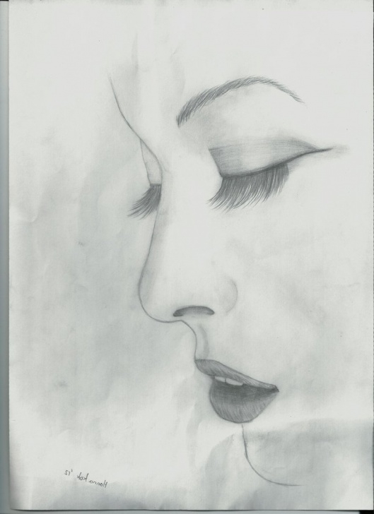 Amazing Simple Pencil Sketch Drawing Tutorial Learn Pencil Sketch Drawing And Pencil Sketches Of Side Face Basic Images