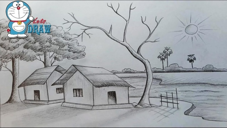 Amazing Simple Scenery Sketches for Beginners Pencil Sketches Of Nature At Paintingvalley | Explore Collection Photo