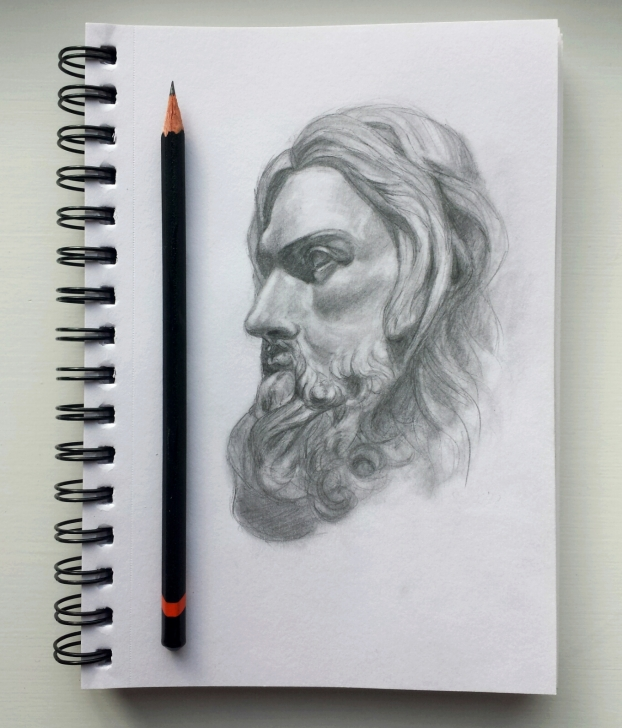 Amazing Small Pencil Sketches for Beginners Small Pencil Sketch Of A Jesus Statue | Religious Art And Photos In Images