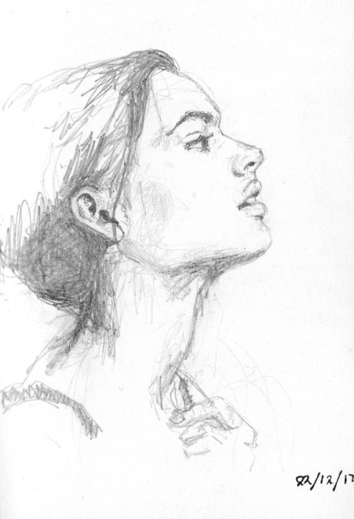 Amazing Small Pencil Sketches Lessons Small Pencil Sketch Of A Woman – Molly Baldwin Pictures