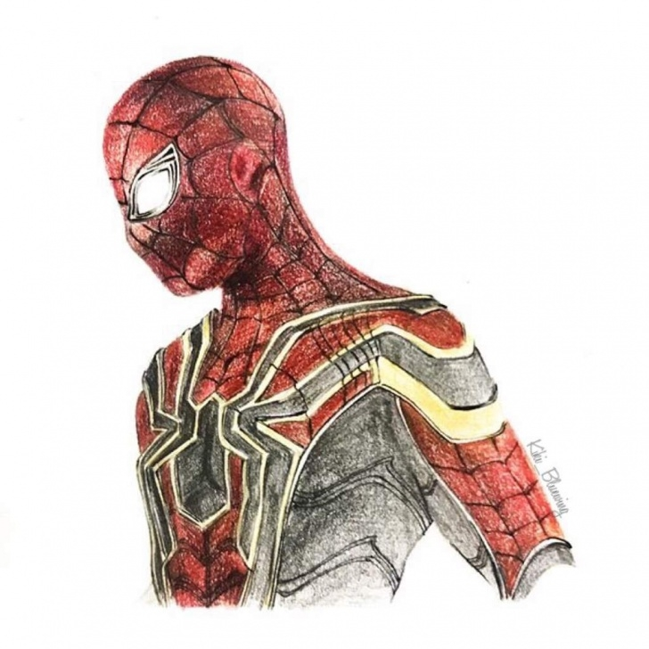Amazing Spiderman Pencil Drawing Lessons Spiderman Drawing Pencil At Paintingvalley | Explore Collection Photo