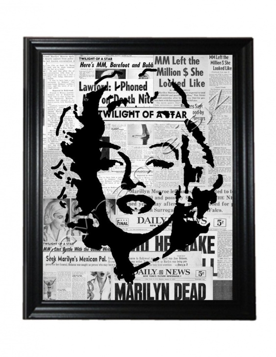 Amazing Stencil Art Easy Step by Step Marilyn Monroe Art Graffiti Style Stencil Art Print | For The Home Photo