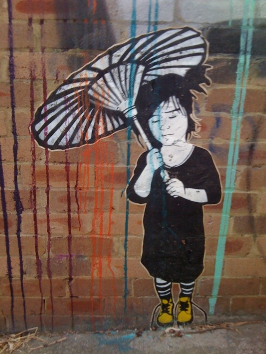 Amazing Stencil Art Street Courses Japanese Parasol Stencil Art | Street Art | Art, Stencil Art, Stencils Pictures