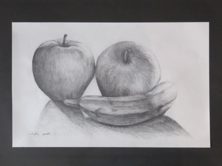 Amazing Still Life Pencil Drawing Easy Stell Life Sketch Fruits Still Life Drawings In Pencil Still Life Picture