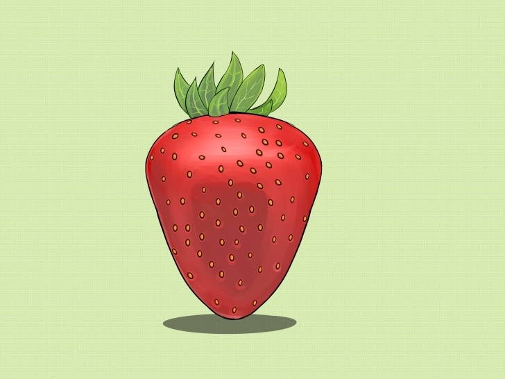 Amazing Strawberry Pencil Drawing Simple How To Draw Strawberries: 11 Steps (With Pictures) - Wikihow Pictures