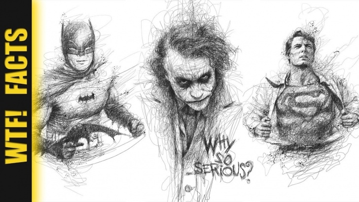 Amazing Super Pencil Drawings Ideas Incredible Scribbled Pencil Drawings Of Musicians & Super Heroes | Listing  #2 Photo