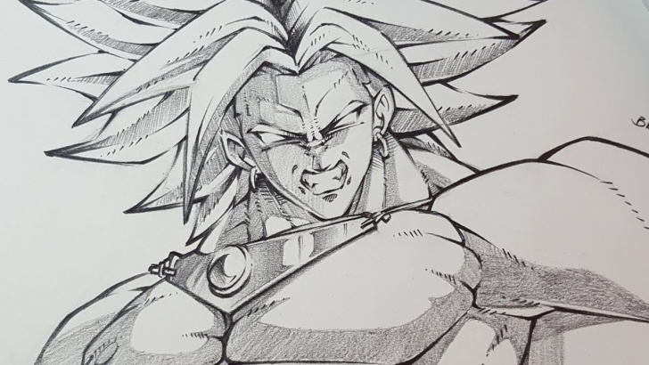 Amazing Super Pencil Drawings Techniques How To Draw Broly Dragon Ball Super - Pencil Sketching Image