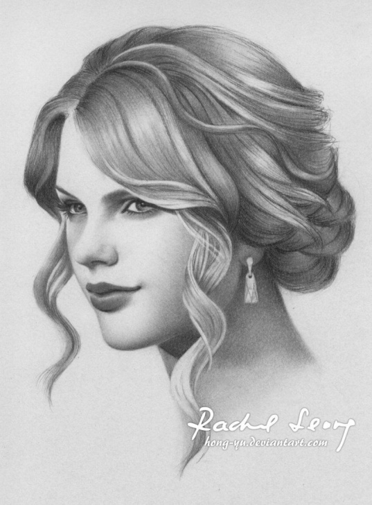 Amazing Taylor Swift Pencil Drawing Step by Step Taylor Swift 10 By Hong-Yu.deviantart On @deviantart | Drawing Pictures