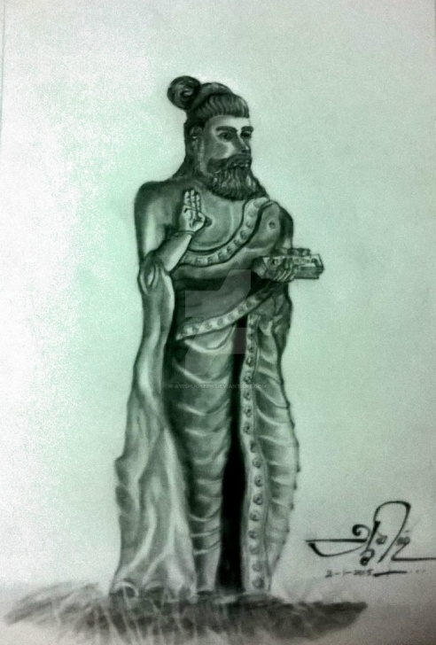 Amazing Thiruvalluvar Pencil Drawing Simple Portrait Of Thiruvalluvar By Avishjoseph On Deviantart Picture