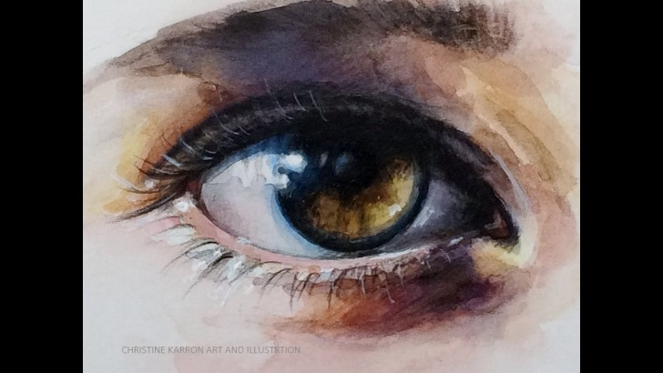 Amazing Watercolor And Colored Pencil Tutorial Mixed Media Demo With Watercolor And Colored Pencils Eye By Ch.karron Photo