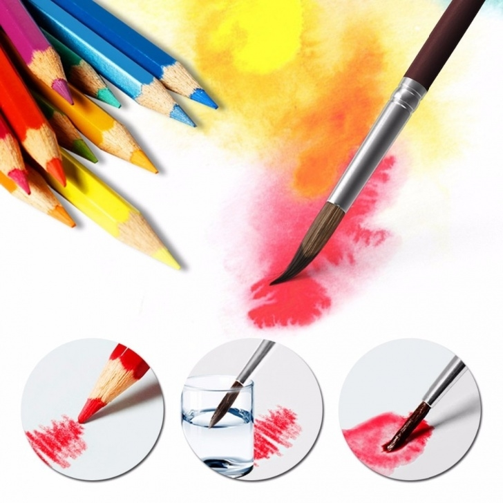 Amazing Watercolor Pencil Art Tutorial Us $10.67 26% Off 48 Pack Watercolor Pencils,watercolor Pencil Art  Set,watercolor, Drawing, Art, 3Mm Core,48 Count (6520) On Aliexpress    Alibaba Pictures