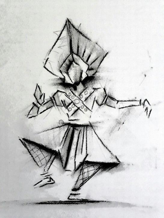 Yakshagana Pencil Sketch