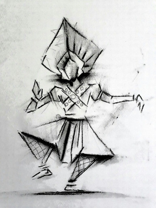 Amazing Yakshagana Pencil Sketch Easy Yakshagana' Charcoal Art By Madanmurali | Mad Hit In 2019 | Charcoal Photo