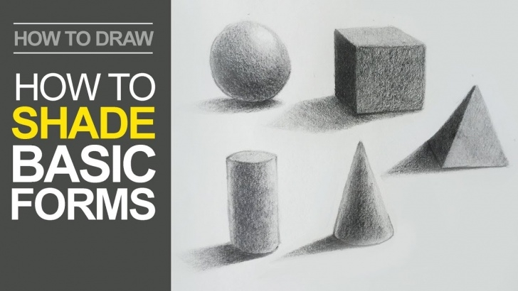 Awesome 3D Shading Drawing Courses How To Shade Basic Forms - Pencil Tutorial Pic