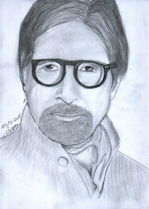 Awesome Amitabh Bachchan Pencil Sketch Techniques Pencil Sketch Of Amitabh Bachchan Draw By: Zohaib Hassan Www Images