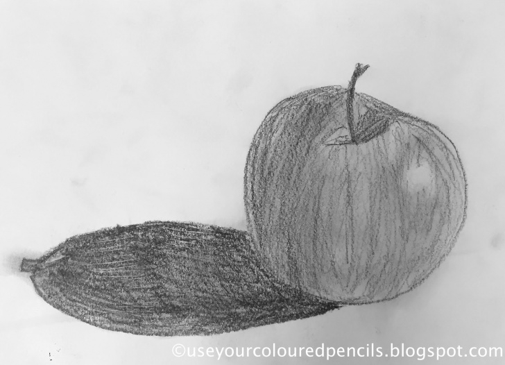 Awesome Apple Still Life Drawing Ideas Use Your Coloured Pencils: Still Life Apple Drawings Pictures