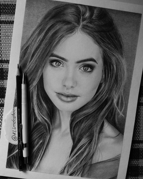 Awesome Beautiful Portrait Sketches Techniques for Beginners Ladyterezie Pencil Portrait Of #lilly Collins | Drawing In 2019 Pictures