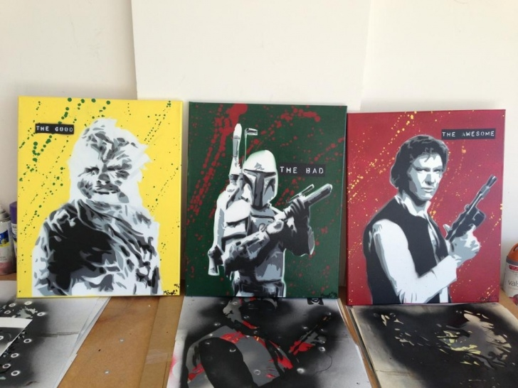 Awesome Best Stencil Art Easy The Good The Bad The Awesome Stencil Art Series : Starwars Pic
