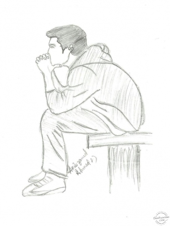 Awesome Boy Pencil Sketch Courses Pencil Drawings Of Lonely Boy - Google Search | Pencil In 2019 | Sad Pic