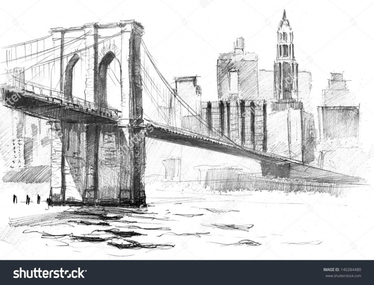 Awesome Bridge Pencil Drawing for Beginners Bridge Clipart Sketch Easy #1378 | Watercolor In 2019 | Bridge Pic