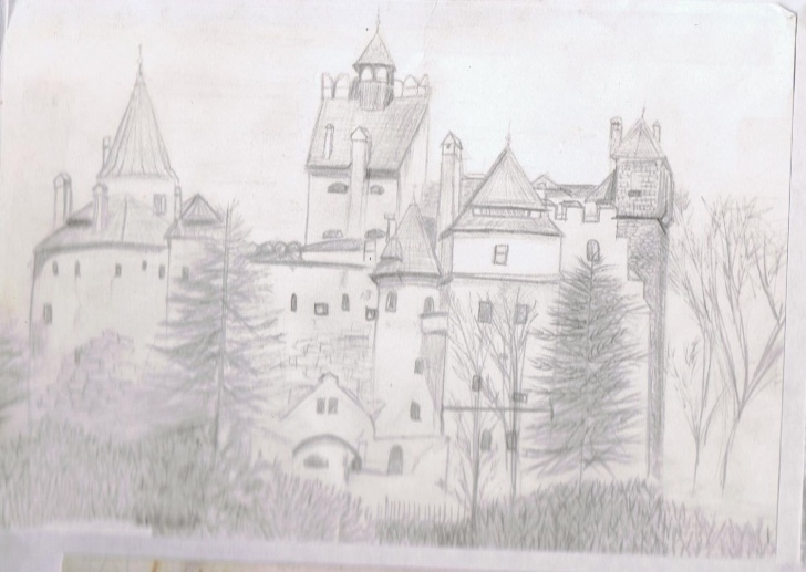 Awesome Castle Pencil Drawing Easy Bran Castle Pencil Drawing | Drawing | Pencil Drawings, Drawings, Art Photo