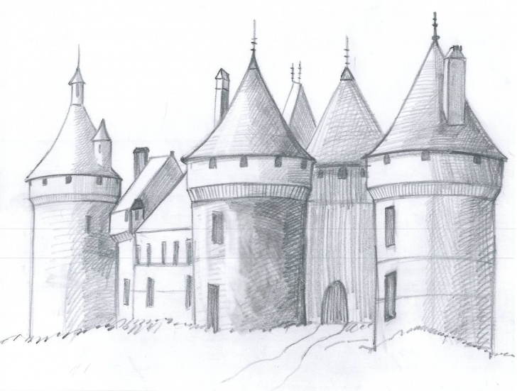 Awesome Castle Pencil Drawing Techniques for Beginners Castle Drawing, Pencil, Sketch, Colorful, Realistic Art Images Pics