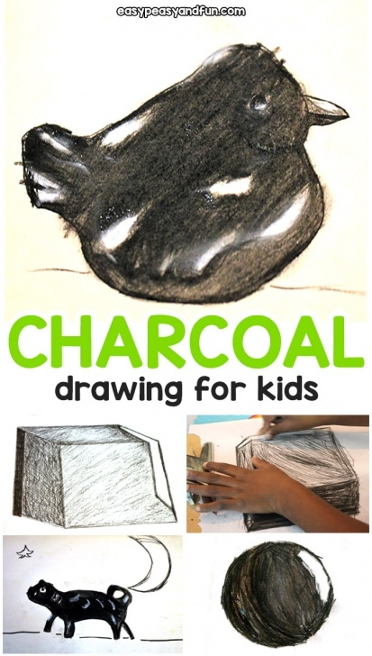 Awesome Charcoal Drawing For Kids Techniques for Beginners Charcoal Drawing For Kids - Art Lesson Tips And Tricks - Easy Peasy Pics