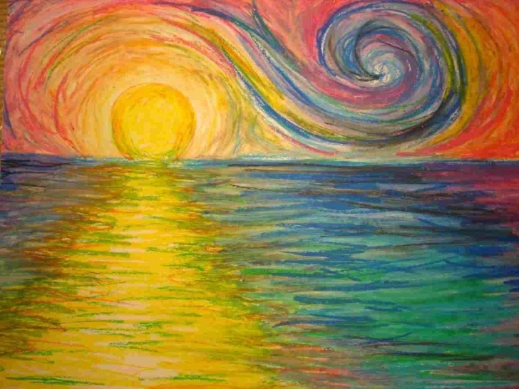 Awesome Colored Pencil Sunset Ideas Rhdrawingartmagzcom Drawing Colored Pencil Sunset Easy Sunsets With Pictures