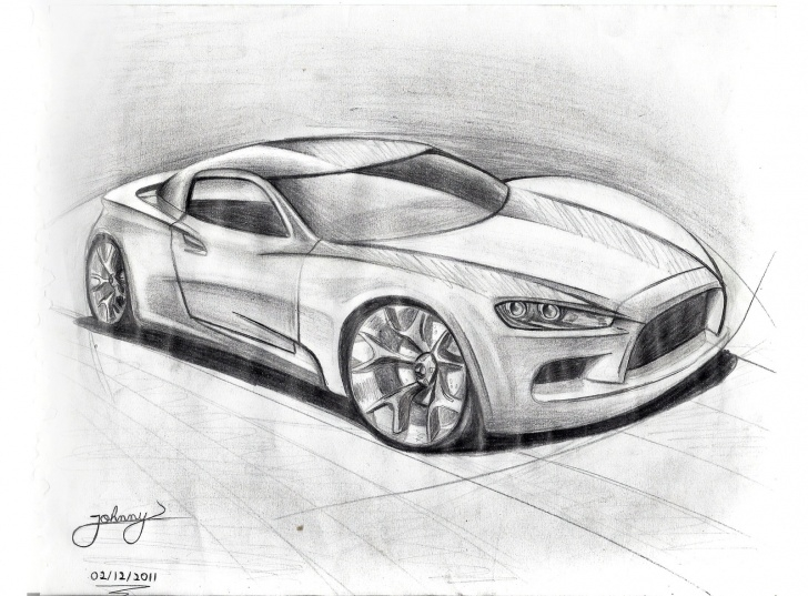 Awesome Cool Car Drawings In Pencil Techniques for Beginners 3D Car Sketch At Paintingvalley | Explore Collection Of 3D Car Photos