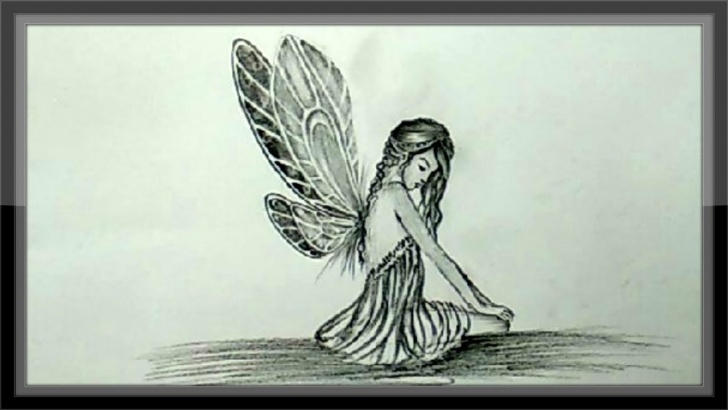 Awesome Cool Drawings Pencil Tutorials Cool Drawings - How To Draw A Fairy In Pencil Step By Step Photo