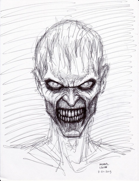 Awesome Creepy Pencil Drawings for Beginners Creepy Pencil Drawings And Zombie+Drawings+In+Pencil | Zombie Pen Pic