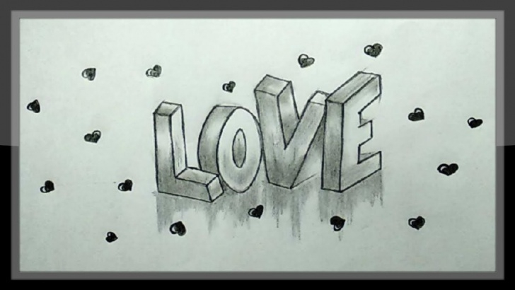 Awesome Cute Love Drawings In Pencil Tutorial Love Drawing - Cute Valentine Drawing In Pencils Easy Photo