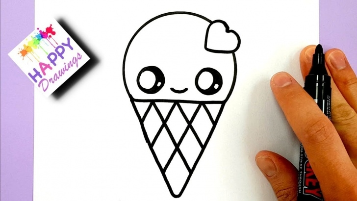 Awesome Drawing Ideas Easy Cute Ideas How To Draw A Cute Ice Cream With A Love Heart Cute And Easy Photo