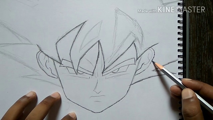 Awesome Easy Goku Drawings In Pencil Easy Drawing Of Goku's Face With Pencil Only Pictures