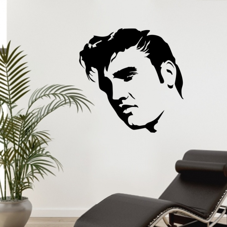 Awesome Elvis Stencil Art Simple Us $11.51 28% Off|Elvis Presley Large Bedroom Wall Mural Art Sticker  Stencil Decal Matt Vinyl Boys Room Decor-In Wall Stickers From Home &  Garden On Picture