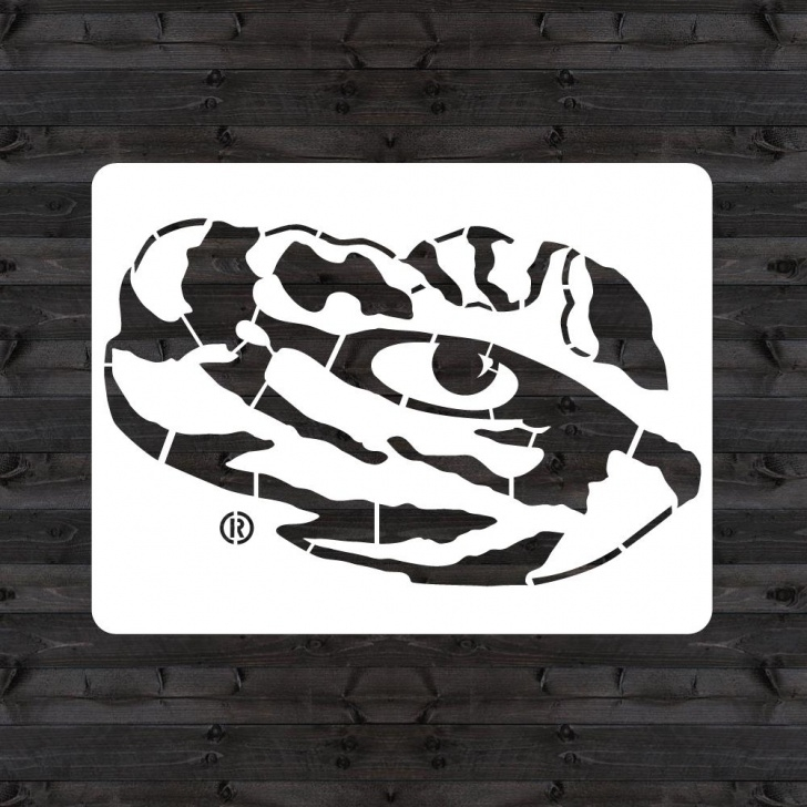 "Awesome Eye Stencil Art Ideas U Stencil Lsu ""tiger Eye"" Mini Stencil Images"