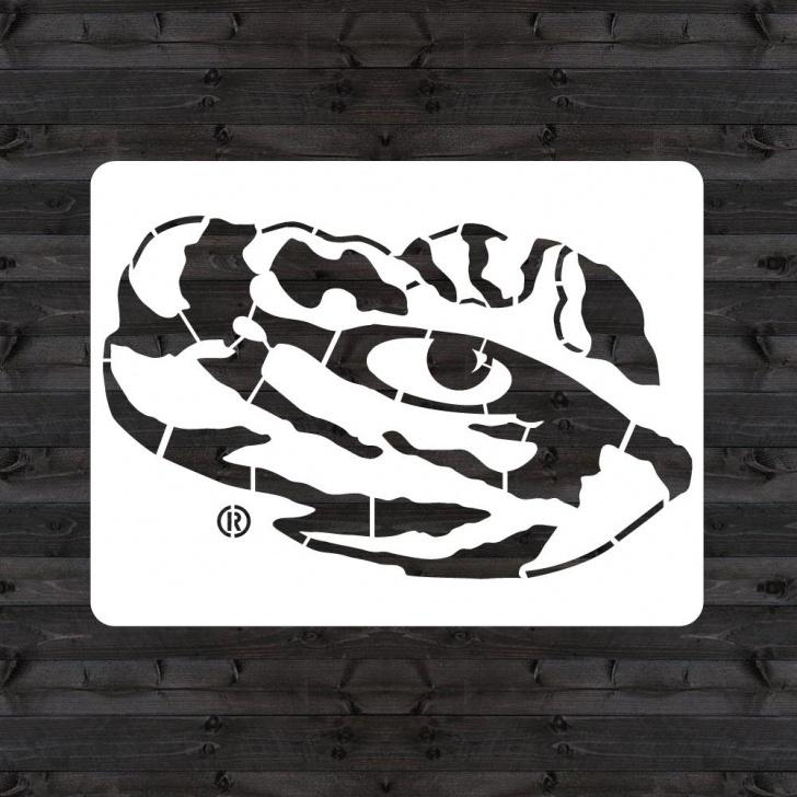 """Awesome Eye Stencil Art Ideas U Stencil Lsu """"tiger Eye"""" Mini Stencil Images"""