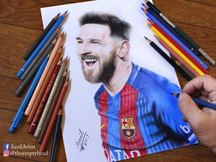 "Awesome Faber Castell Polychromos Drawing Easy Sanilartist On Twitter: ""drawing #messi Pencil: Faber Castell Pic"