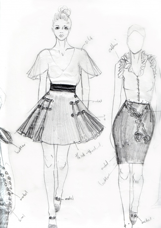 Awesome Fashion Illustration Pencil Sketches Techniques Pencil Sketching | Elise Faye - Fashion Illustrator Image