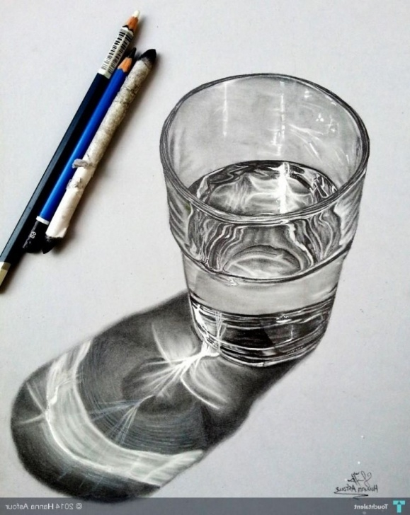 Awesome Glass Pencil Drawing Courses Real Pencil Drawing Water Pencil Drawing Of Water Glass Of Water Photos