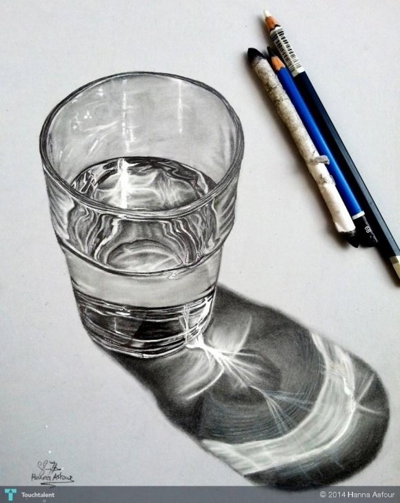Awesome Glass Pencil Drawing Ideas Glass Of Water Realistic Pencil Drawing | Touchtalent - For Images