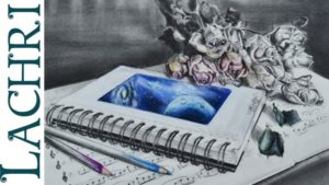 Awesome Graphite And Colored Pencil Drawing Techniques for Beginners Time Lapse Drawing Sketchbook Graphite And Colored Pencil Speed Painting By  Lachri Image