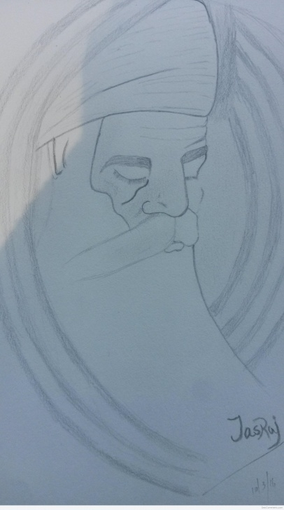 Awesome Guru Purnima Pencil Sketch Tutorial Pencil Sketch Of Guru Nanak Dev Ji - Desicomments Image