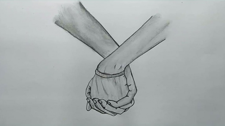 Awesome Hand With Pencil Drawing Free How To Draw Lovely Holding Hands With Pencil Sketch Step By Step Pic