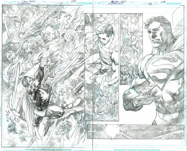 Awesome Ivan Reis Pencils Courses Superman (2018) 1 Page 04 - 05 - Ivan Reis - Pencils Only, In Image