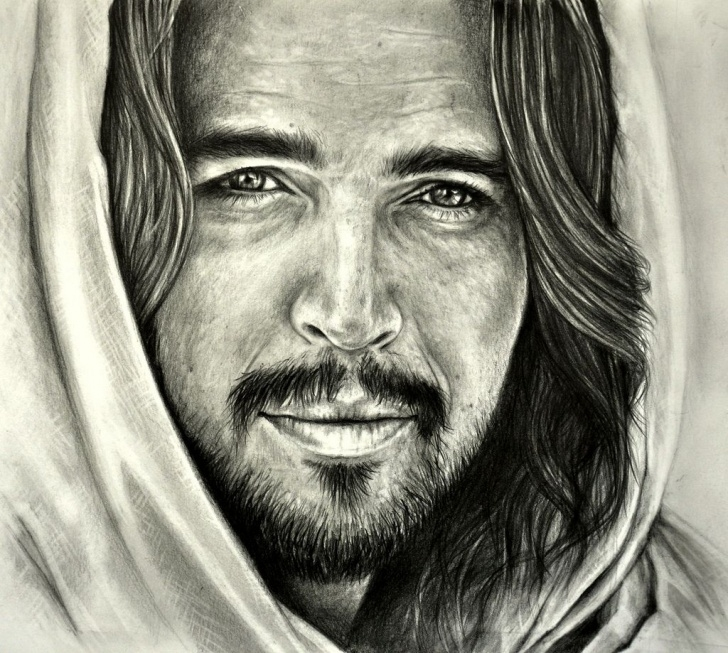"Awesome Jesus Laughing Pencil Drawings Easy Son Of God"" Is A 2014 American Epic Biblical Drama Film.the Film Photo"