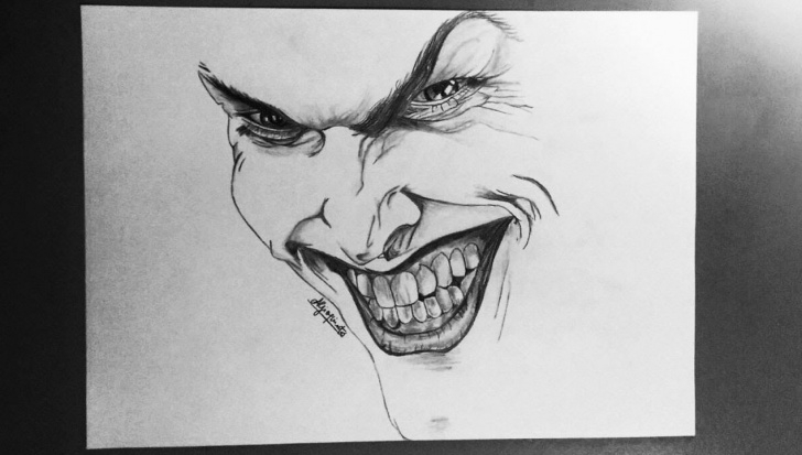 Awesome Joker Pencil Sketch Free Joker Speed Drawing - Pencils Pics