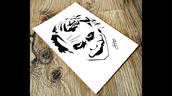 Awesome Joker Stencil Art Tutorial How To Draw The Joker - Stencil Art - Art Maker Akshay Picture