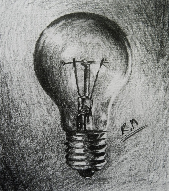 Awesome Light Bulb Pencil Drawing Free Light Bulb Pencil Drawing At Paintingvalley | Explore Collection Photos