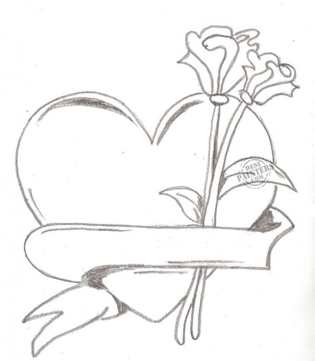Awesome Love Sketch Drawing Simple Free Pencil Art Love Heart, Download Free Clip Art, Free Clip Art On Images